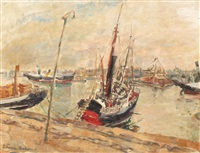 boats in the harbour by elena tacian baludima