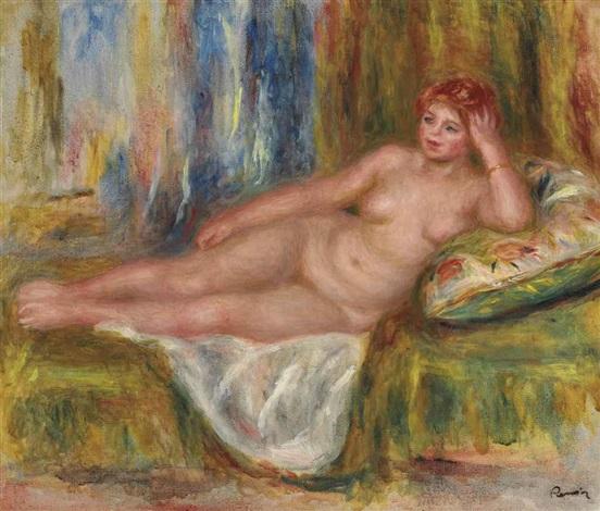 femme nue couchée by pierre auguste renoir