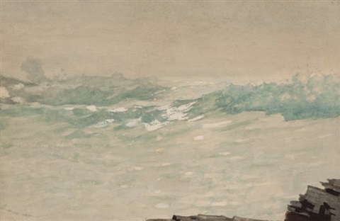 breaking wave by winslow homer