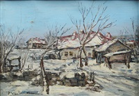 winter over the village by partog vartanian