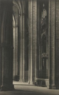 bourges cathedral across aisle nave by frederick henry evans