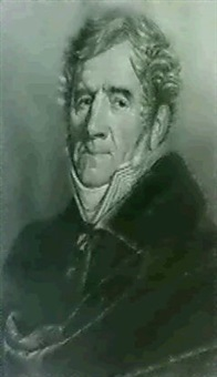 portrait of ange alexandre bondon, aged 70 years, head and shoulders by jean antoine cousin