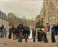 un mariage mondain à la basilique saint-epvre (nancy) by léon joseph voirin