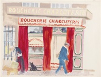 boucherie - charcuterie, marseille by george grosz