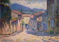 rue de village dans le midi de la france by alban dulac