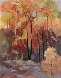 fall tapestry - algonquin park by lorna dockstader