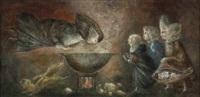 santa teresa en la cocina by leonora carrington