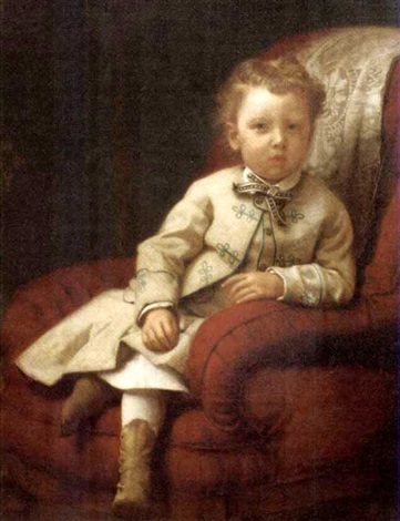 portrait of a young boy by seymour joseph guy
