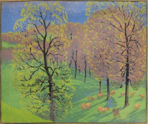 early spring by gustave baumann