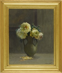 floral still life by jacques bille