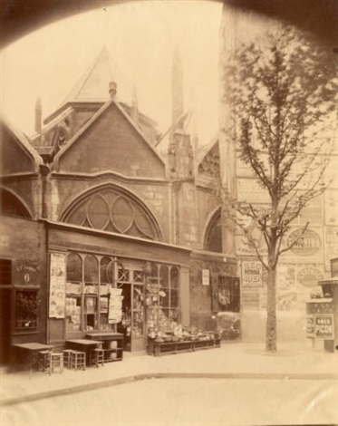 saint séverin rue st jacques by eugène atget