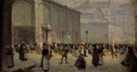 devant les halles by léon jules lemaitre
