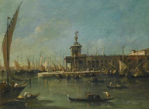 venice the punta della dogana by francesco guardi
