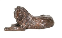 reclining lion by tessa pullan