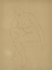 seated nude by rupert bunny