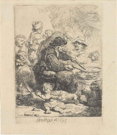 the pancake woman by rembrandt van rijn