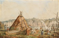 indian encampment, northern ontario by william wallace armstrong