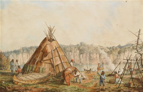 indian encampment northern ontario by william wallace armstrong