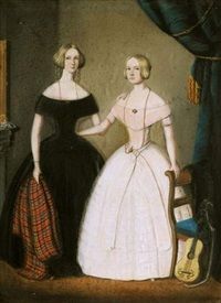 portrait de miss king et miss green by w.h.f.l. langschmidt