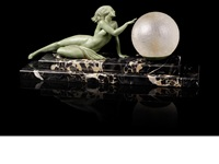 seduction figural lamp by pierre le faguays