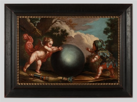 fool and cupid by luca giordano