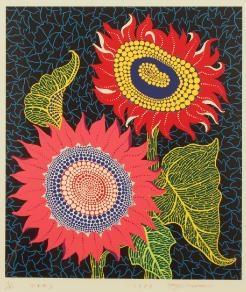 sunflowers by yayoi kusama