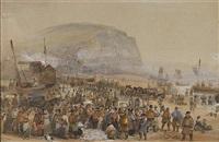 herring season, on the beach at hastings by george bryant campion