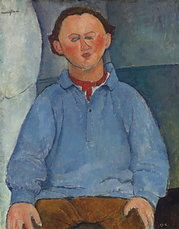 portrait du sculpteur oscar miestchaninoff by amedeo modigliani