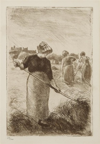 les faneuses by camille pissarro