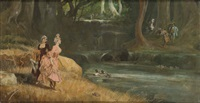 escena galante by angel (monedero) lizcano y esteban