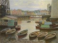 escena de puerto by ceferino carnacini