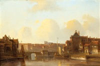 view of a city by the water by kasparus karsen