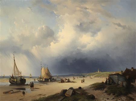 unloading the catch by louis gabriel eugène isabey