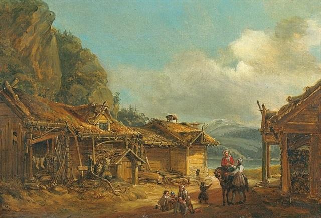 le village norvégien saime by mikael gustaf anckarsvard