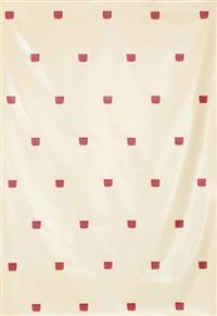 sans titre (empreintes de pinceau no. 50 répétées à intervalles réguliers de 30 cm.) by niele toroni