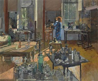 cornish studio at 8.15 am by ken howard