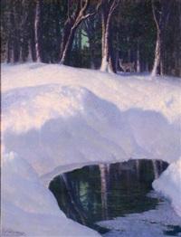 winter scene by carl woolsey