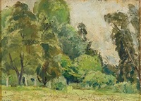 untitled (trees in garden) by arnold joseph victor shore