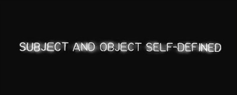 subject and object self defined by joseph kosuth