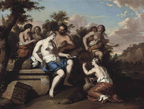 a bacchanal with nymphs and satyrs by gerard hoet the elder
