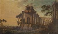 ruines antiques animées de personnages (pair) by pierre antoine patel