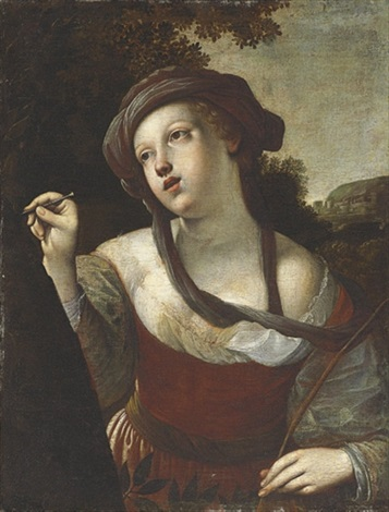 erminia carving the name of tancred on a tree by alessandro tiarini
