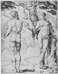 4 bll.: alttestamentarische szenen (4 works) by maerten jacobsz van heemskerck