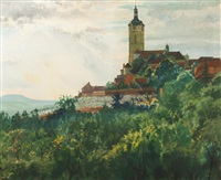 view of mělník by adolf j. (jelinek) alex