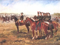 grandes manoeuvres de cavalerie by g yon