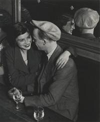 couple at the bal des quatre saisons, rue de lappe by brassaï