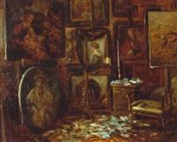 cabinet de peinture by alexandre félix leleu