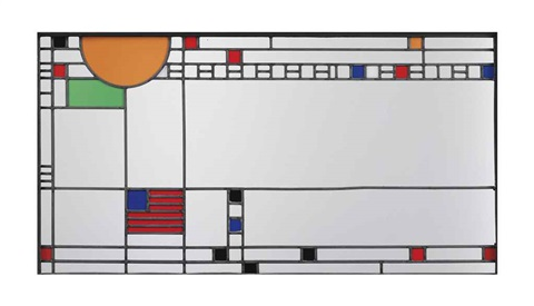 important window from the avery coonley playhouse by frank lloyd wright