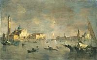 veduta della chiesa di san giorgio, venezia by giovanni riva
