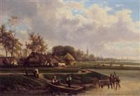 holländishces dorfmotiv by félix de baerdemaeker
